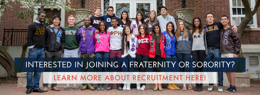 Interested in joining a fraternity or sorority graphic